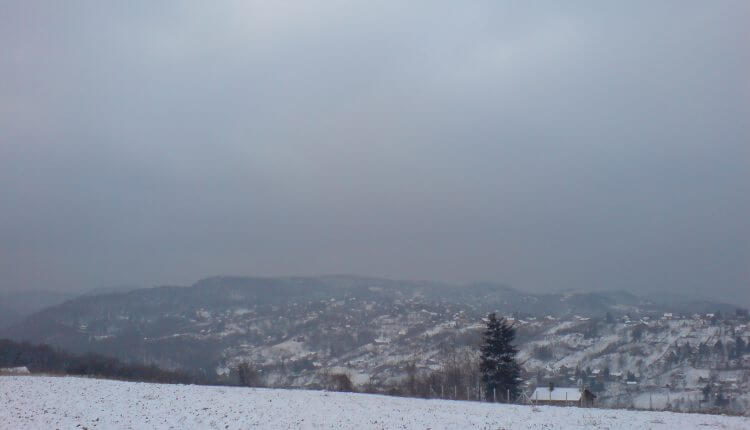 Sneg na obroncima Fruške Gore