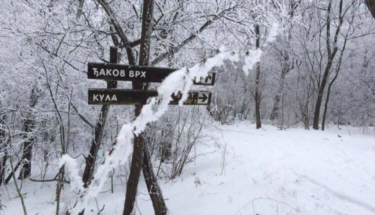 Vršački breg - prvi sneg 3. dec