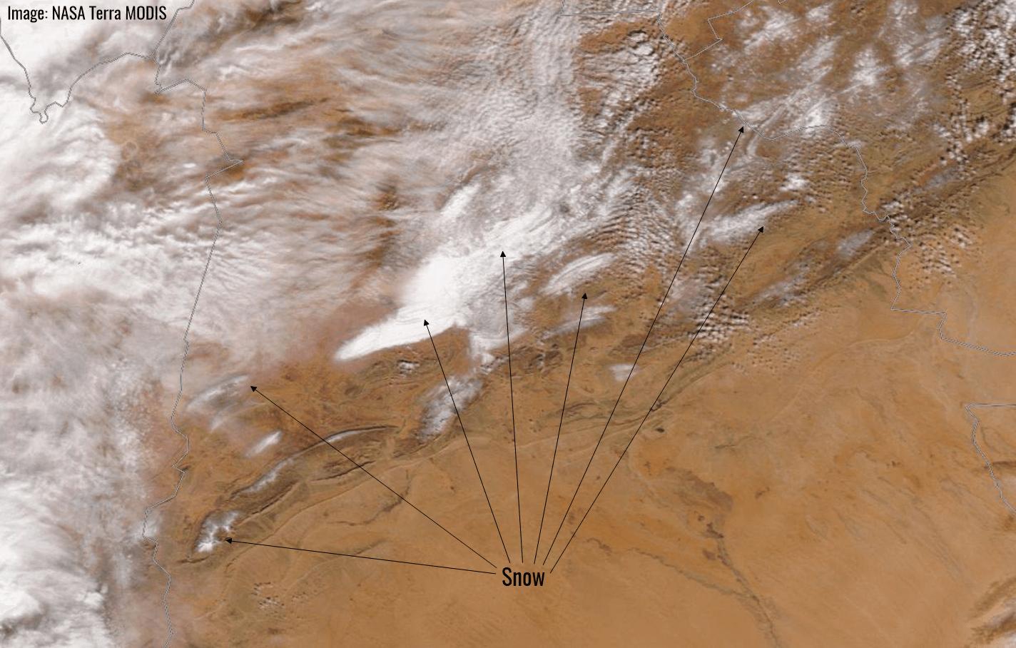 Sneg u Alžiru - satelit