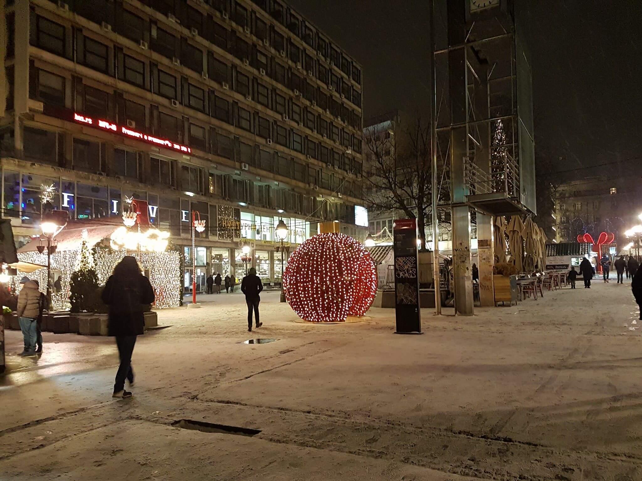 Sneg u Beogradu - 14. januar uveče