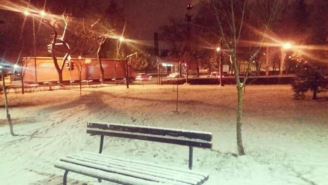 Sneg u Subotici - 15. januar uveče