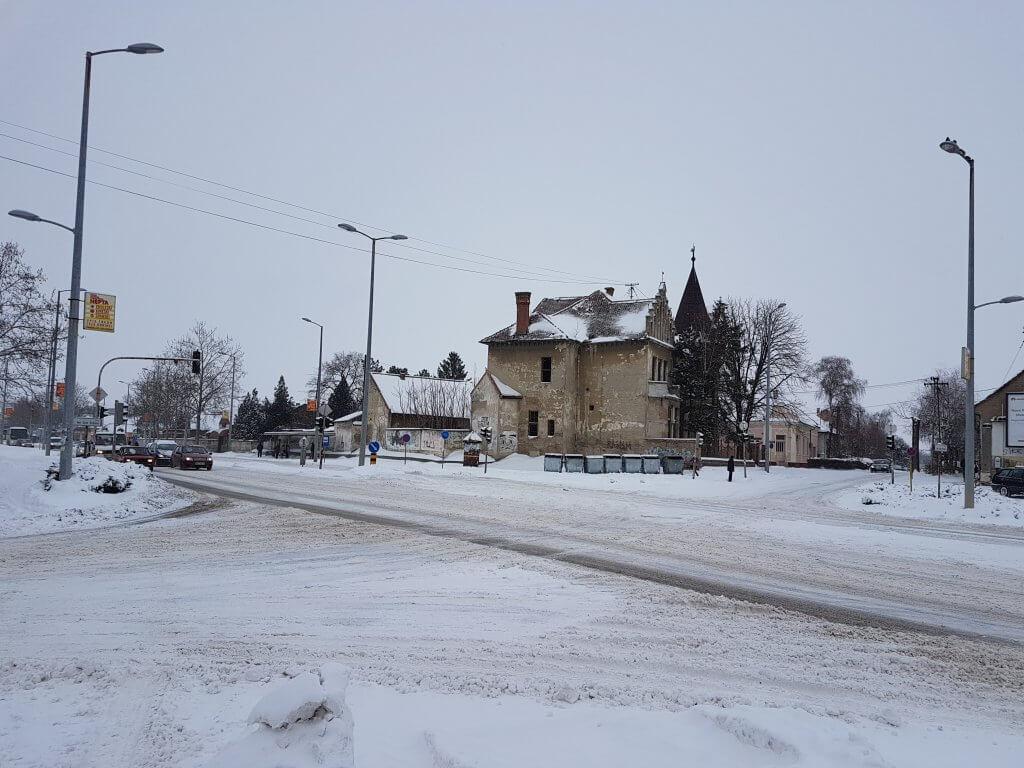Magistrala pod snegom u Zrenjaninu - 27. februar