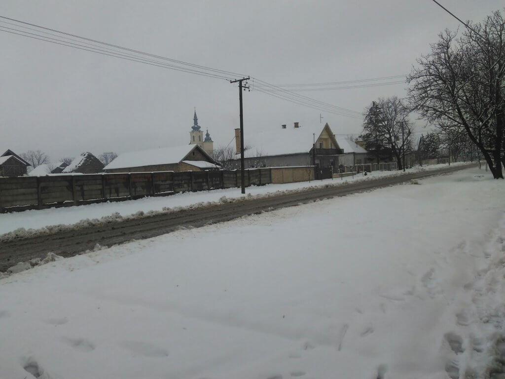 Sneg u Čurugu - 21. feb 9h