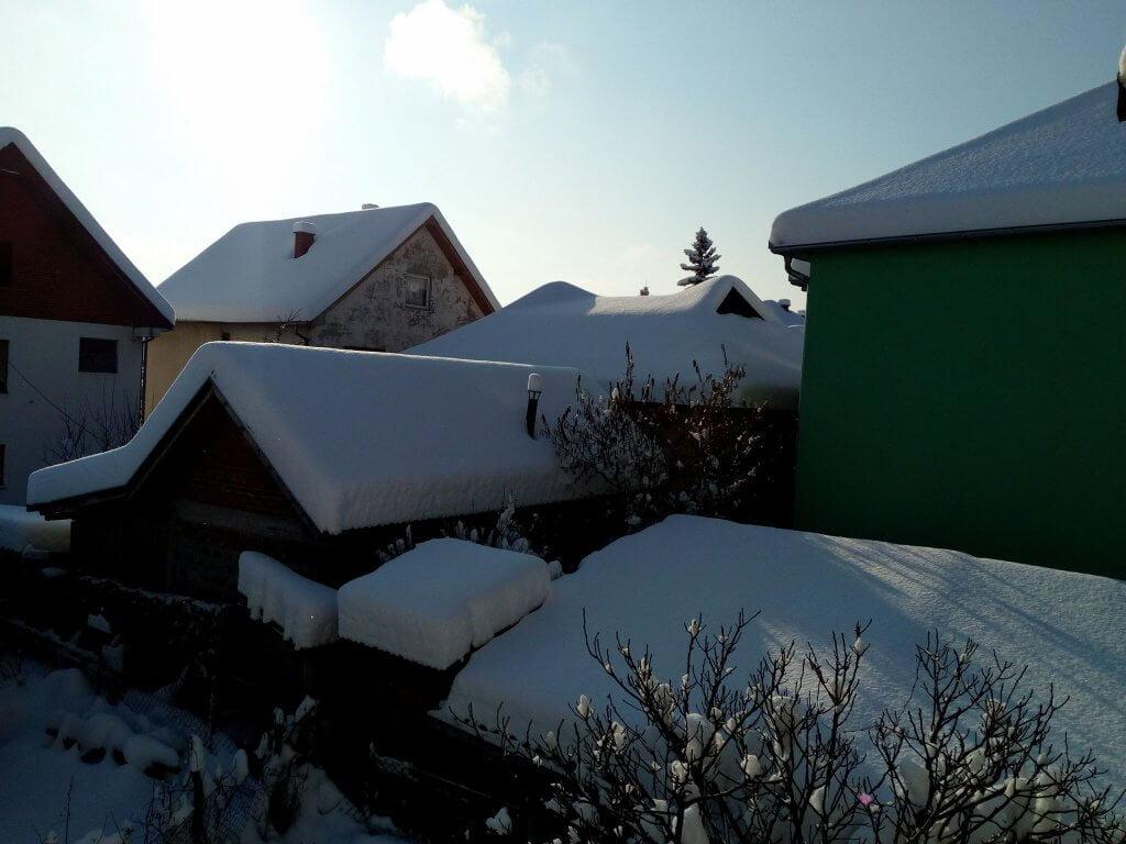 Sneg u Kragujevcu - 27. feb ujutru