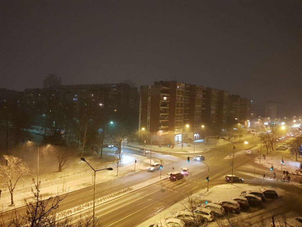 Sneg u Novom Sadu - 20. feb 19h