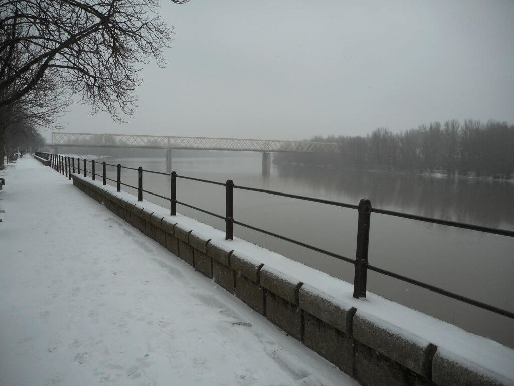 Sneg u Senti pored Tise - 26. februar 2018