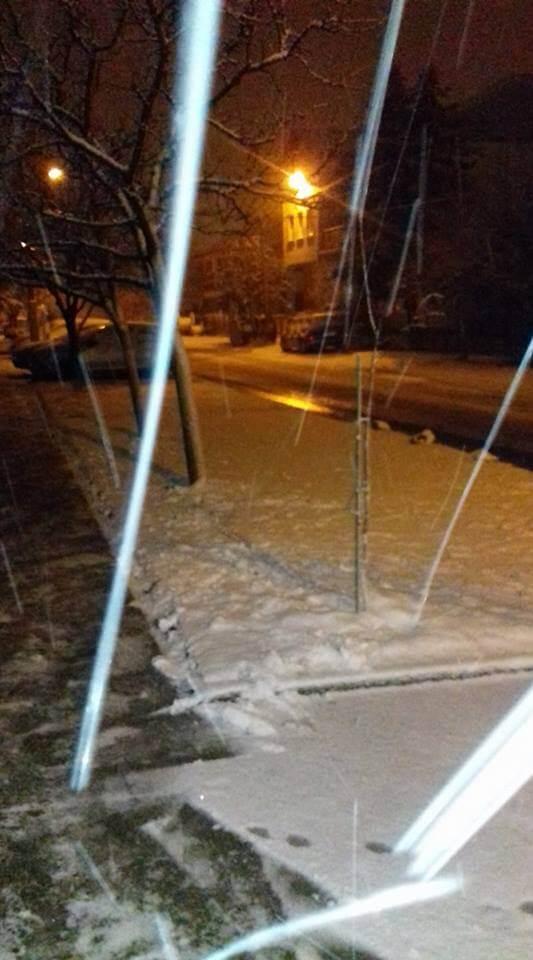 Sneg u okolini Novog Sada - 20. feb 20h