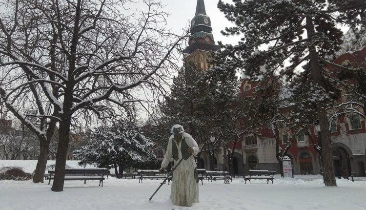 Subotica - park kod gradske kuće - 28. februar
