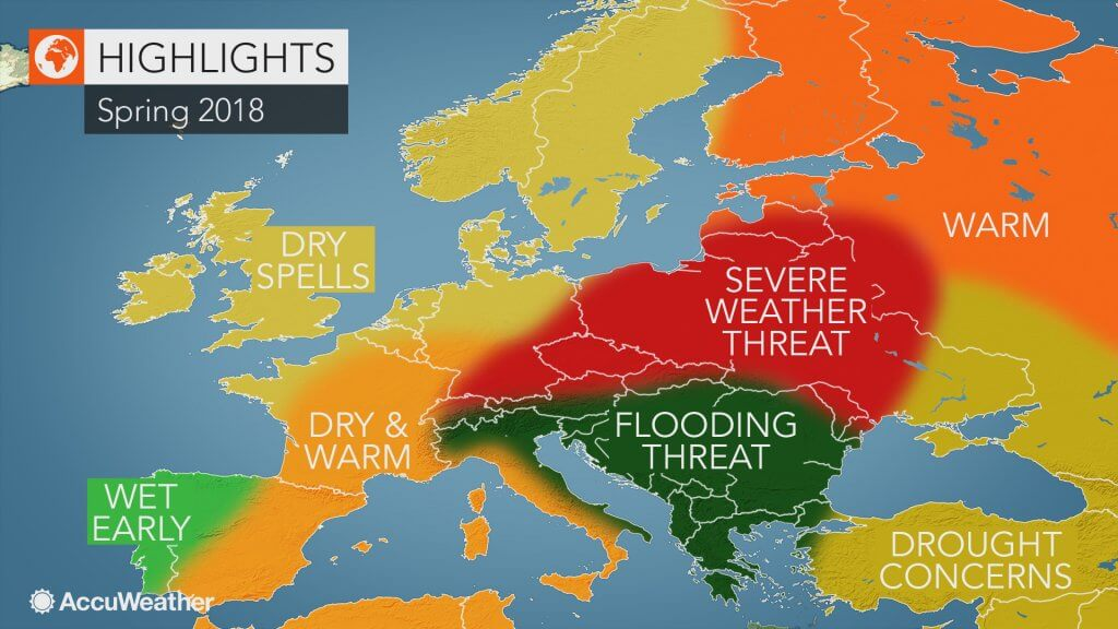 AccuWeather prognoza za proleće 2018 u Evropi