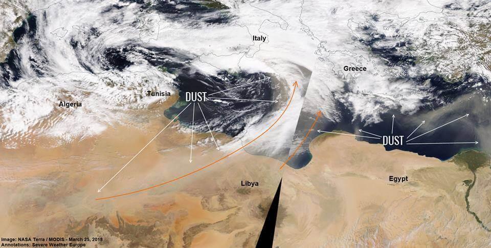 Analiza satelitskog snimka ukazuje na veće koncentracije peska