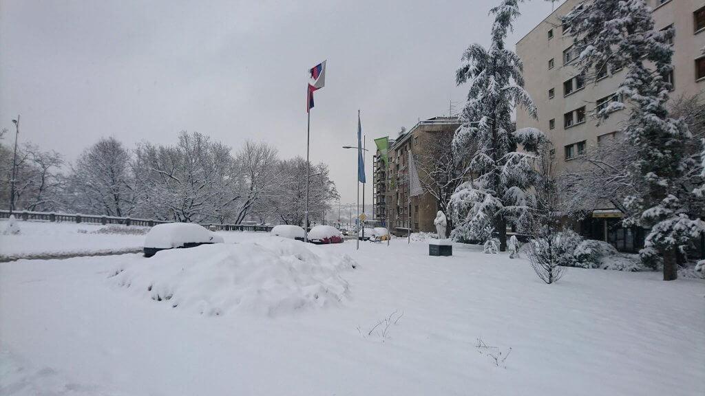 Novi Sad ispod 20cm snega