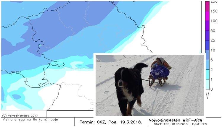 Tokom noći u delu Vojvodine formiraće se snežni pokrivač
