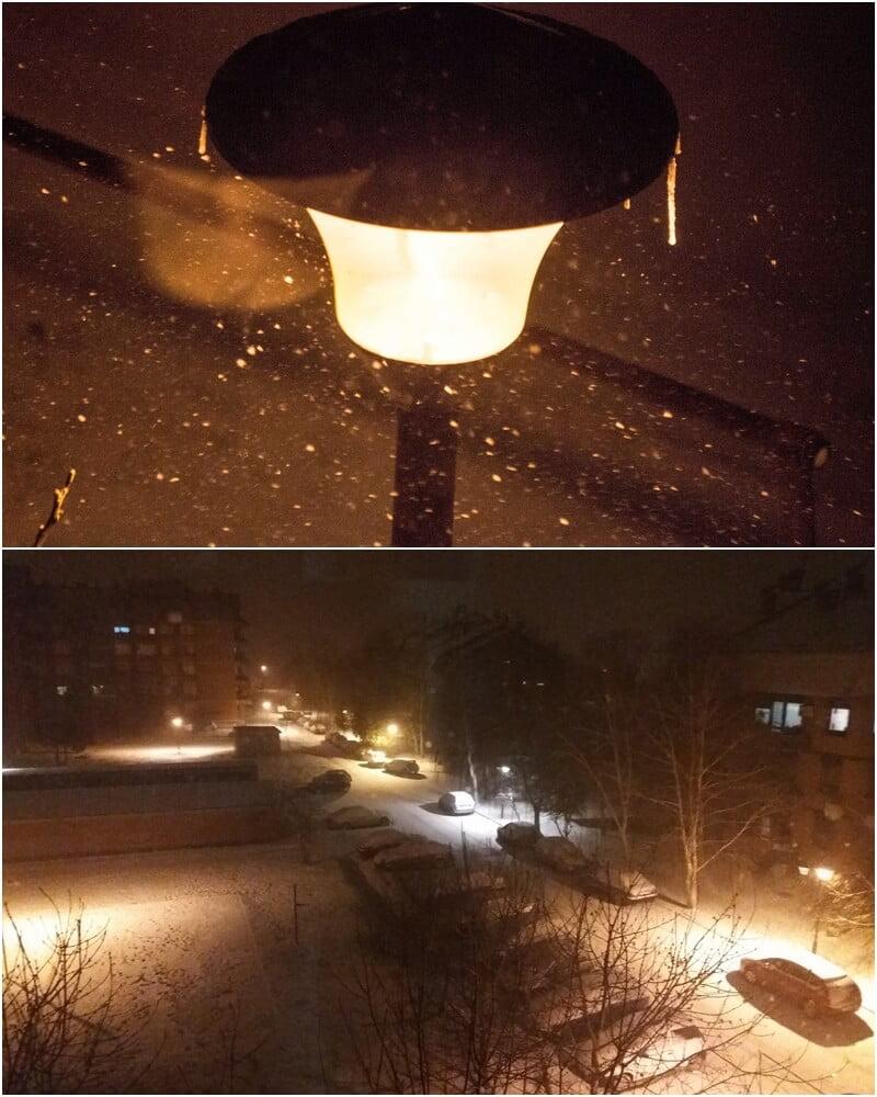 Vecerašnji sneg u Šidu