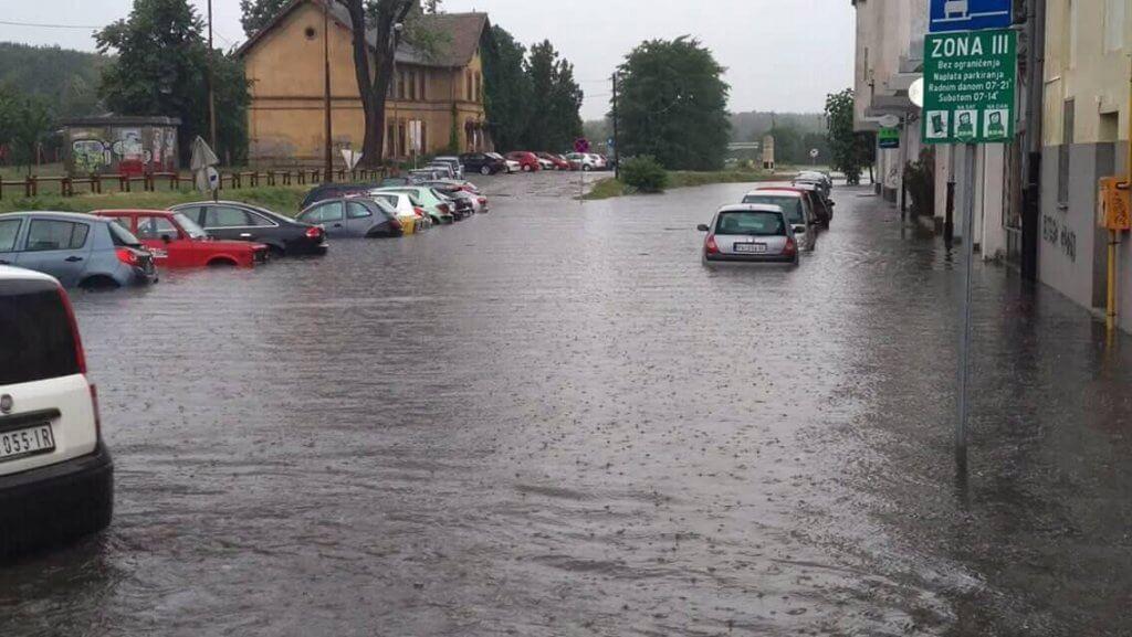 Pančevo pod vodom - Kej Radoja Dakića