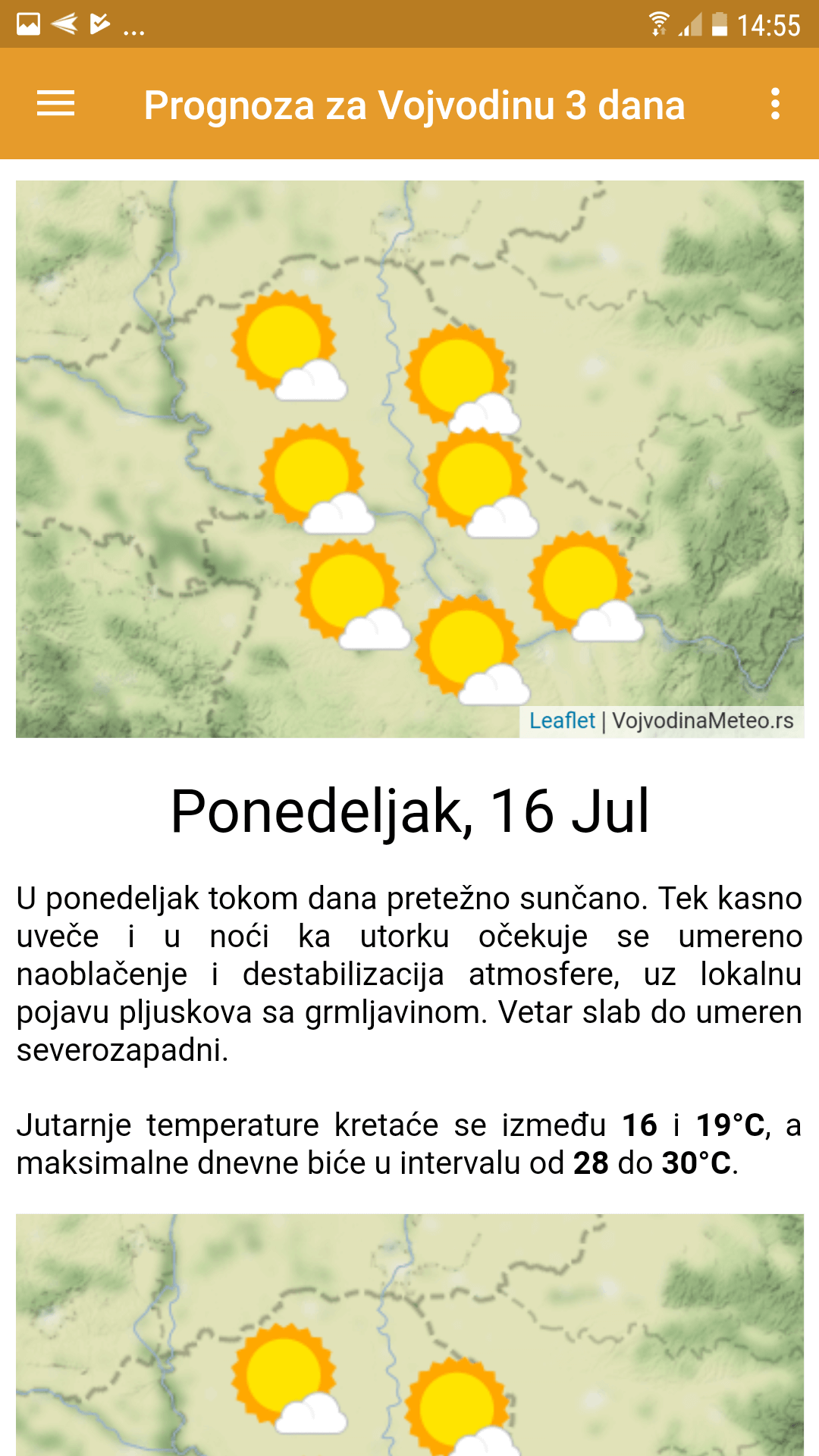 Trodnevna VM prognoza za Vojvodinu i Beograd