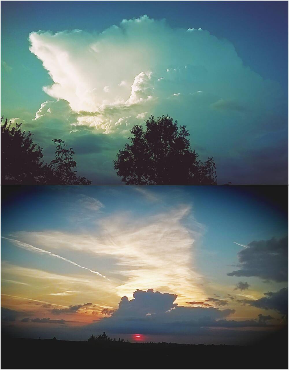 Oblak iznad Beograda i zalazak sunca (Foto: Branko Miljković)