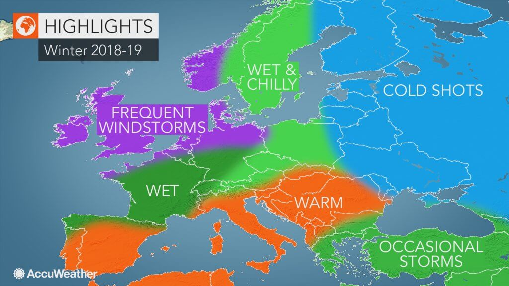 AccuWeather prognoza za zimu 2018-19 u Evropi