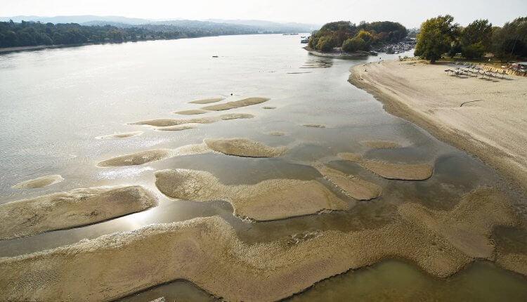 Dunav u Novom Sadu Štrand (oktobar 2018)