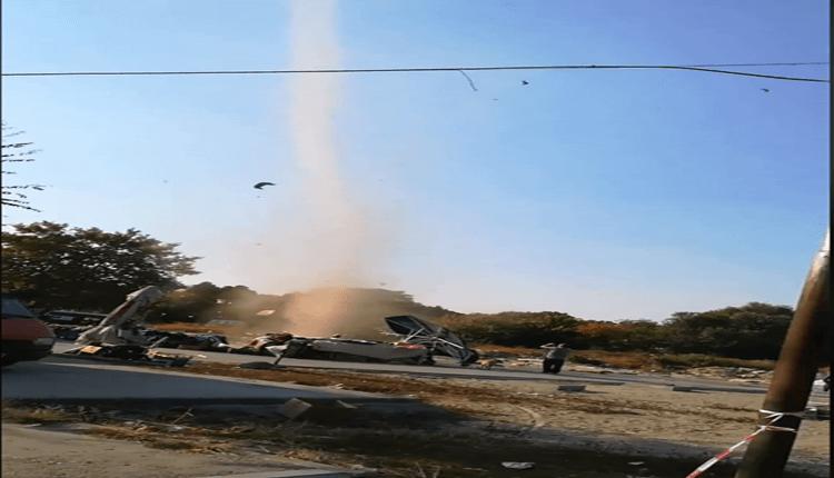 Dust devil u Novom Sadu - 9. oktobar 2018