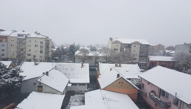 Bačka Palanka jutros pod snegom