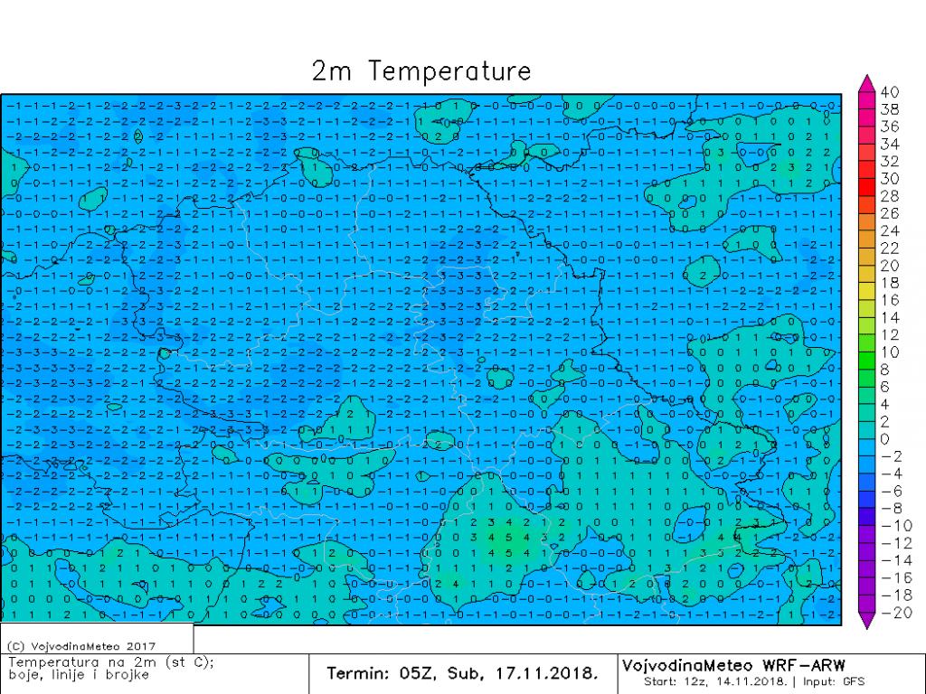 Slab mraz širom Vojvodine u subotu (ARW)