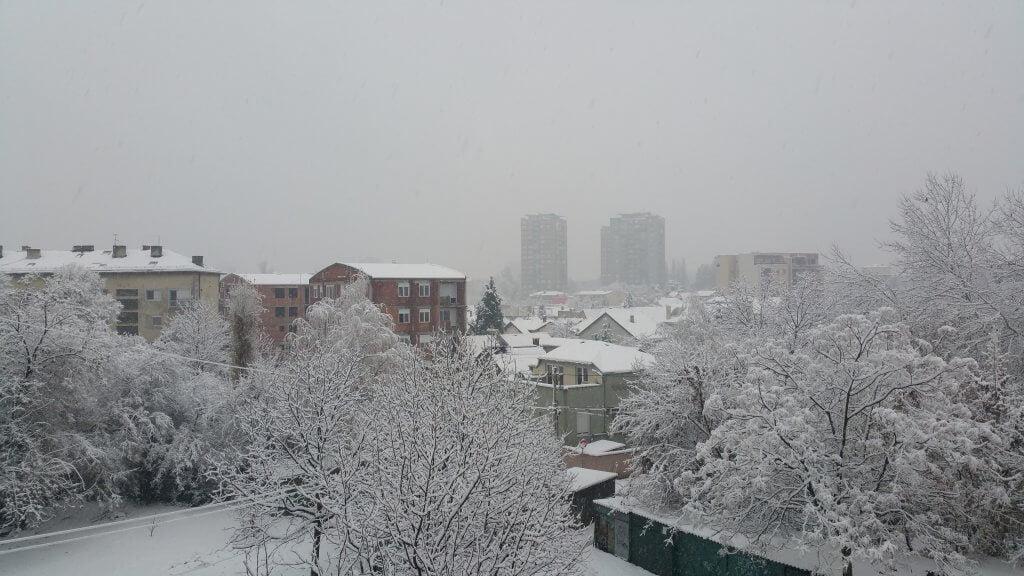 Beograd pod snegom pre podne