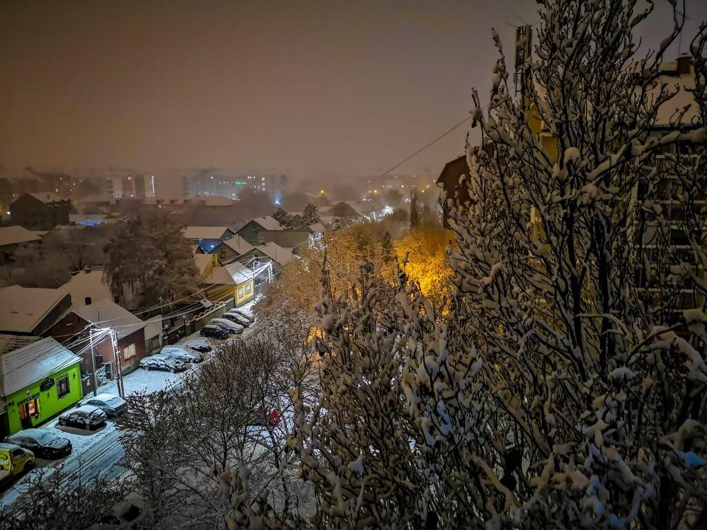 Novi Sad pod snegom večeras