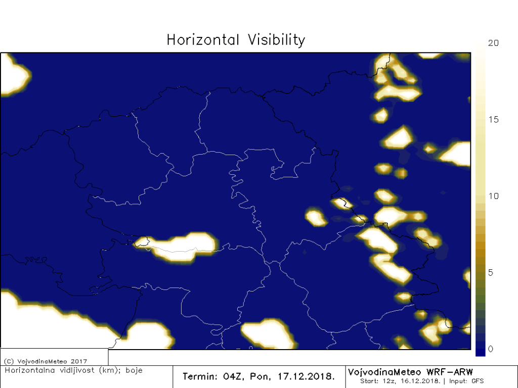 Smanjena vidljivost širom Vojvodine u ponedeljak ujutru (ARW)