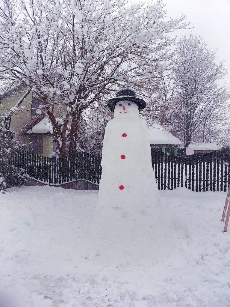 Sneško u Itebeju visok 3 metra