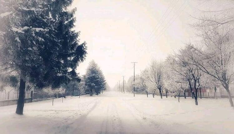 Snežna idila u Drljanu