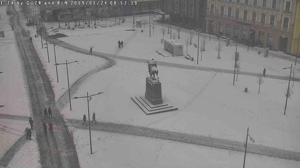 Nakon ledene kiše sneg pada jutros i u Zrenjaninu (Izvor: zrenjanin.rs)