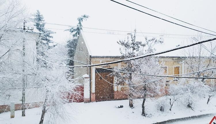 Sneg na Badnji dan u Zrenjaninu