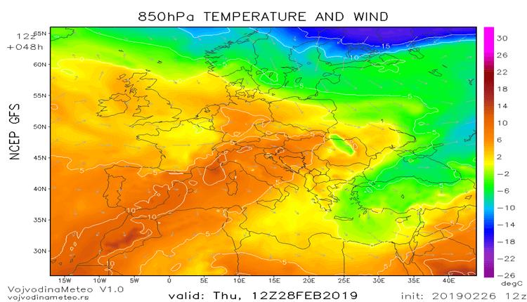 Veći deo Evrope biće zahvaćen toplim talasom (GFS)