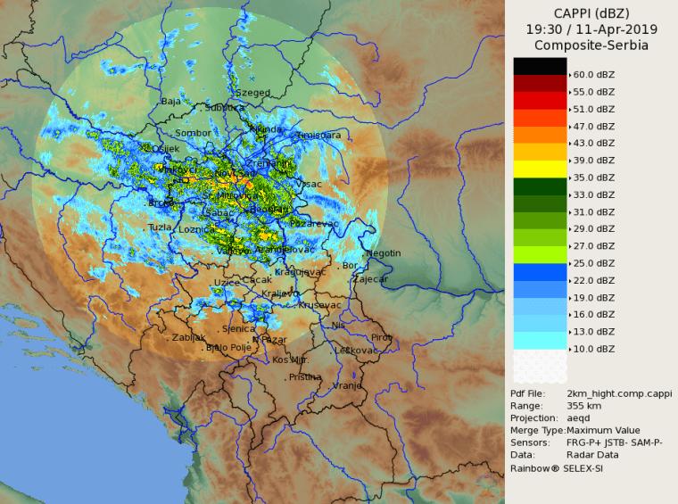 Radarska slika u 2130h - 11. april