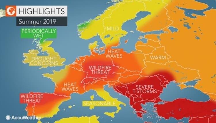 Sezonska prognoza za leto 2019 u Evropi