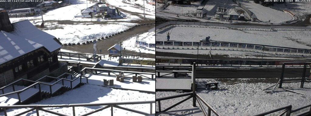 Sneg zabeleo Kopaonik - 15. maj (Izvor: Skijališta Srbije)