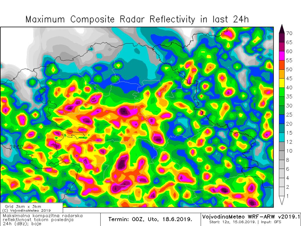 Maksimalna radarska refleksivnost tokom ponedeljka (ARW)