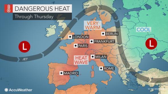 Tropski talas pogađa delove Evrope (AccuWeather)