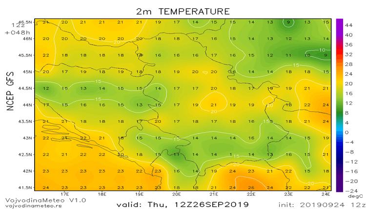 U cetvrtak ponovo hladnije (GFS)